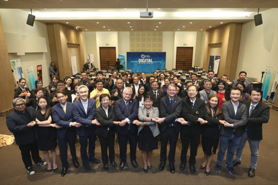 Participants at signing ceremony for ICDL Thailand IoU